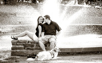Engagement Session - Black and White